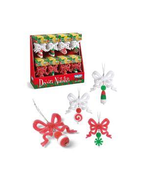 Espositore con 40 appendini natalizi fiocchetti c/effetto brin 60679