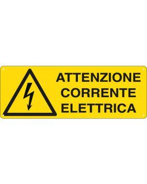 Cartello alluminio 35x12,5cm 'attenzione corrente elettrica' E1743K