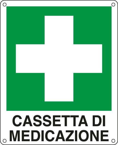 Cartello alluminio 16x21cm 'cassetta di medicazione' E20113W 8769142011337 E20113W by Cartelli Segnalatori