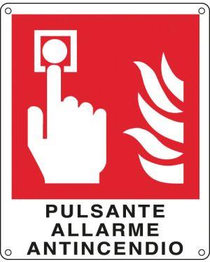 Cartello alluminio 12x14,5cm 'pulsante allarme antincendio'&#39 E20174K