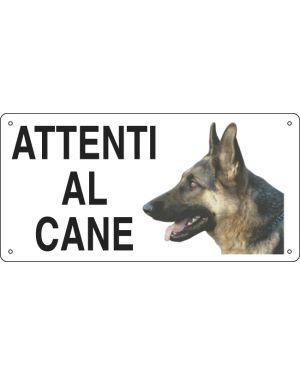 Cartello alluminio 25x12,5cm 'attenti al cane'&#39 8505