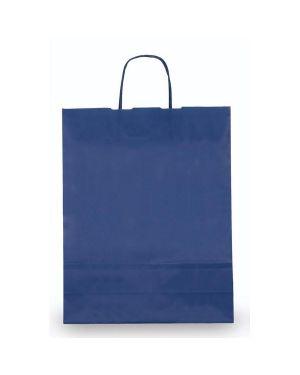 25 shoppers carta kraft 18x8x24cm twisted blu 72116 8029307072116 72116