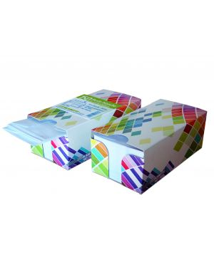 BOX DISPENSER 150 BUSTE BIANCHE 110X230MM 90GR C/FINESTRA con STRIP BLASETTI 393