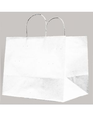 25 shoppers carta kraft 32x20x33cm twisted large bianco 72987 8029307072987 72987 by Cartabianca