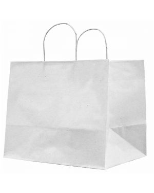 25 shoppers carta kraft 32x20x33cm twisted large avorio 73007 8029307073007 73007 by Cartabianca