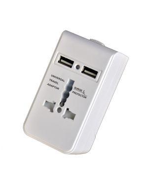 ADATTATORE DA VIAGGIO 2 PRESE USB MELCHIONI 492518062