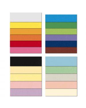 Conf.25 cartoncino Bristol Color 200gr 50x70cm nero 63 Favini A35A012