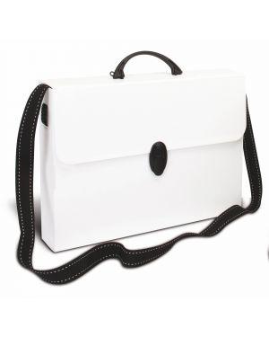 Valigetta polionda a tracolla bianco 27x37,5cm dorso 8cm PF14254TRATTOBIA 8010151000783 PF14254TRATTOBIA