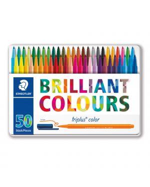 Triplus pennarelli brilliant colours punta 1mm astuccio da 50 colori staedtler 323M50 4007817337165 323M50