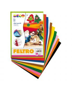 Feltro colorato 21x30cm colori assortiti conf.10 fogli cwr 7653 8004957076530 7653 by Cwr