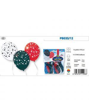 Busta 14 palloncini stelle colori assortiti pegaso PB033/12
