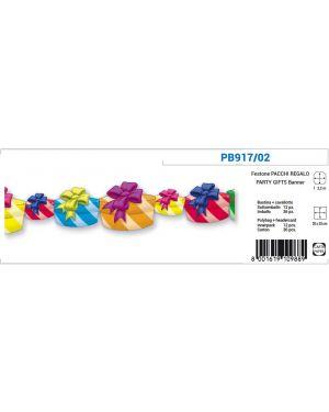 Festone pacchi regalo in carta 2.2mt pegaso PB917/02