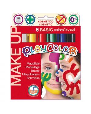 MAKE UP TEMPERA SOLIDA PLAYCOLOR ASTUCCIO CON 6 COLORI BRILLANTI 1001 by Maped
