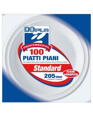 100 PIATTI PIANI Ø 205mm Dopla Professional 1236