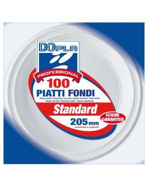 100 PIATTI FONDI Ø 205mm Dopla Professional 1237