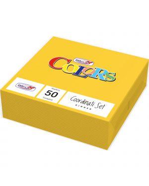Tovaglioli pura cellulosa 2 veli 33x33 pz.50 giallo 18308