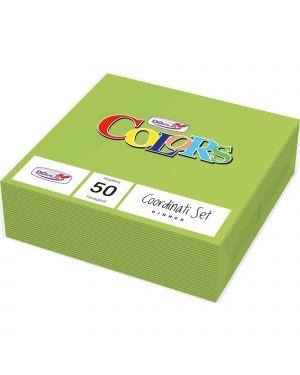 50 tovaglioli carta 33x33cm 2 veli verde acido dopla 18313 8005090001632 18313