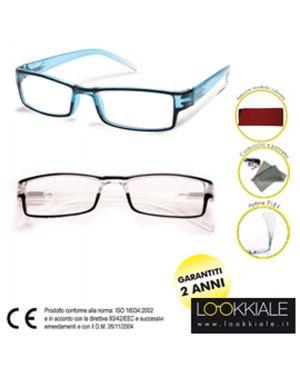 Occhiale diottrie 200 mod elite trasparente lokkiale ELITE +2,00 TRASPAR