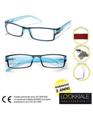 Occhiale diottrie +3,00 mod. elite azzurro lokkiale ELITE +3,00 AZZURRO