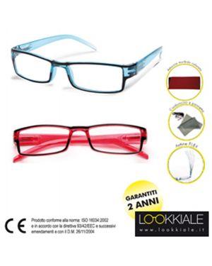 Occhiale diottrie +3,50 mod. elite rosso lokkiale ELITE +3,50 ROSSO 8058964801807 ELITE +3,50 ROSSO