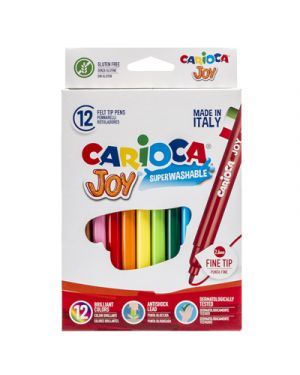 Scatola 12 pennarelli joy lavabili colori assortiti carioca 40614 8003511406141 40614