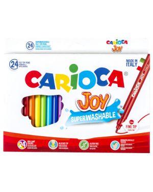 Scatola 24 pennarelli joy lavabili colori assortiti carioca 40615 8003511406158 40615