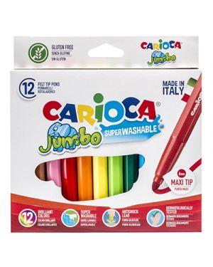 Astuccio 12 pennarelli jumbo lavabili colori assortiti carioca 40569 8003511405694 40569