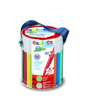 Barattolo 50 pennarelli jumbo lavabili colori assortiti carioca 42312 8003511423124 42312