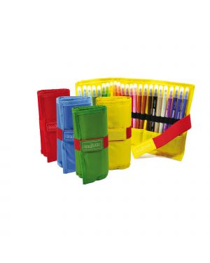 Astuccio roll up 24 pennarelli colori assortiti carioca 42850  42850