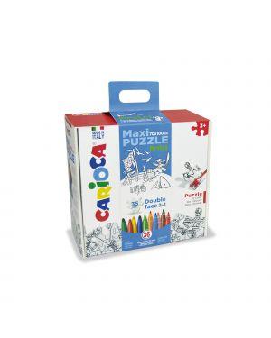 Maxipuzzle city  jungle 35 pz + 36 pennarelli carioc 42861