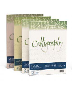 Carta CALLIGRAPHY NATURE A4 50fg 100gr agrumi FAVINI A69Q534