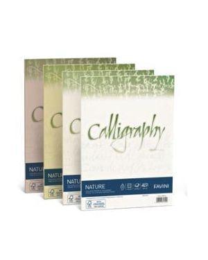 25 buste calligraphy nature 120gr 120x180mm oliva favini A57N107 8007057747157 A57N107 by Favini