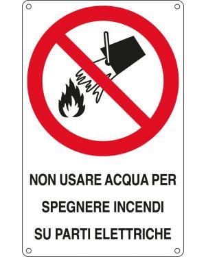 Cartello alluminio 16,6x26,2cm 'non usare acqua per spegnere incendi su...&#34 E630601W 8798090630604 E630601W