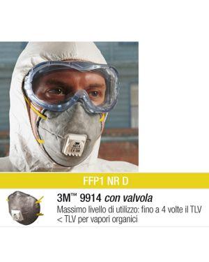 Scatola 10 mascherine 9914 con carboni attivi ffp1 51435