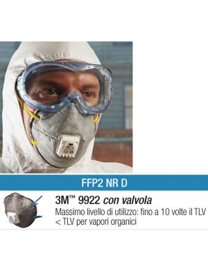 Scatola 10 MASCHERINE 9922 con carboni attivi FFP2 89620