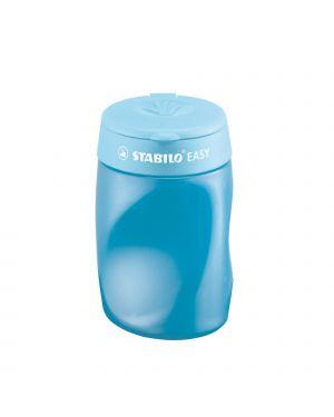 Temperamatite easy 3 fori c/contenitore ergonomico blu per destrimani stabilo 4502/2