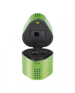 Temperamatite 3 fori grip 2001 verde c/doppio serbatoio faber castell 183802