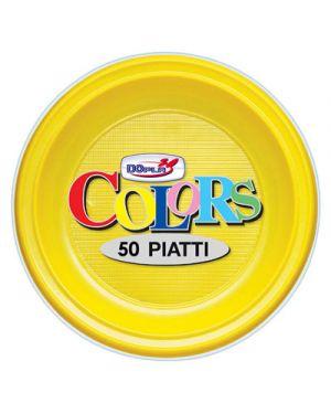 Piatti plastica frutta diametro 17,5 pz.50 giallo DOPLA 1661 8008650205174 1661