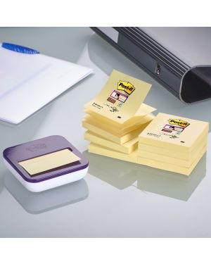 DISPENSER VAL +8 ricarche Post-it®Super Sticky Z-Notes giallo Canary 76x76mm 6519 by Post-it