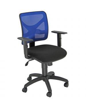 Sedia operativa pentagon nero - blu con braccioli PNBE/EB 8050043749727 PNBE/EB by Unisit