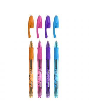 Scatola 12 penna sfera gel cancellabil gelocity illusion 0,7mm col. ass.fun bic 944073 3086123465091 944073 by Bic