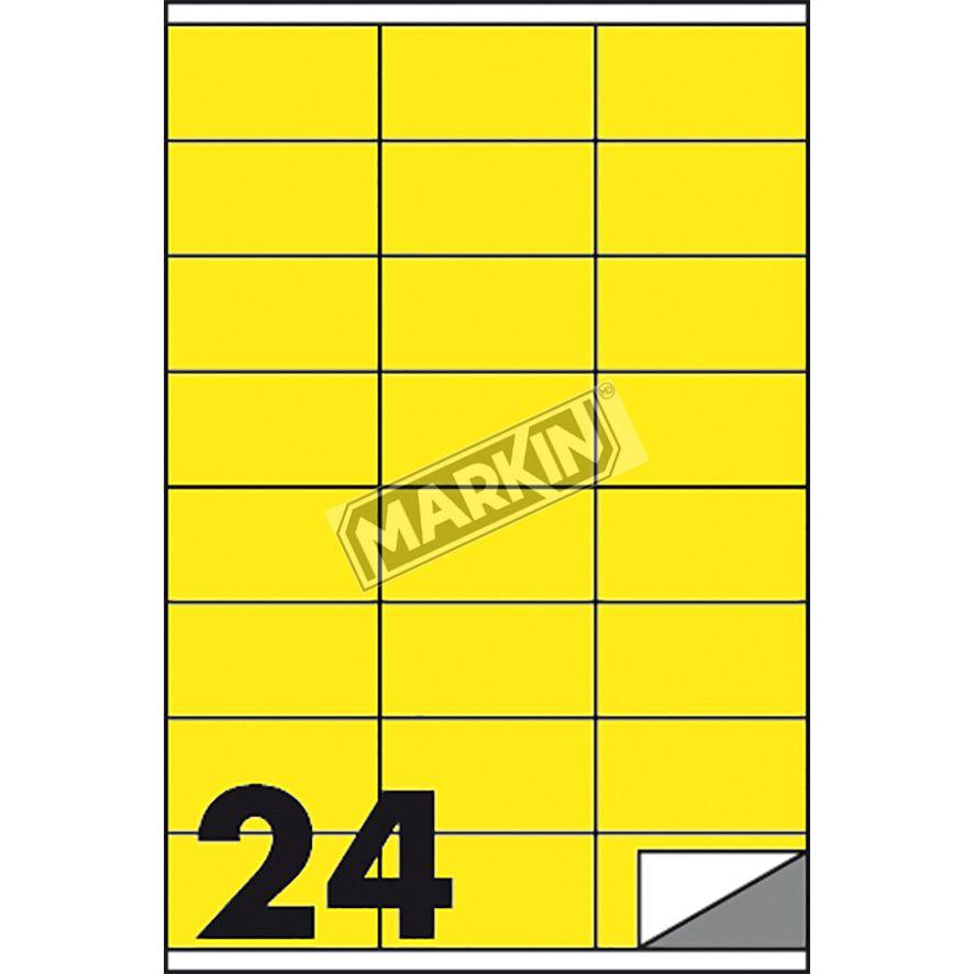 Markin Etichetta adesiva C//519 giallo fluo 100fg A4 105x148mm 4et//fg