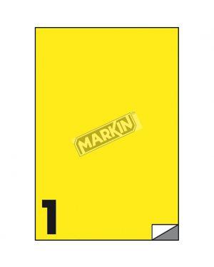 Etichetta adesiva c - 503 giallo fluo 100fg a4 210x297mm (1et - fg) markin X210C503F-GI  X210C503F-GI