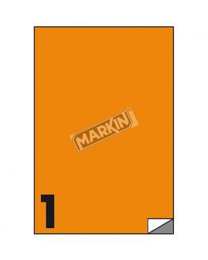 Etichetta adesiva c - 503 arancio fluo 100fg a4 210x297mm (1et - fg) markin X210C503F-AR  X210C503F-AR