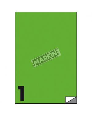 Etichetta adesiva c - 503 verde fluo 100fg a4 210x297mm (1et - fg) markin X210C503F-VE  X210C503F-VE