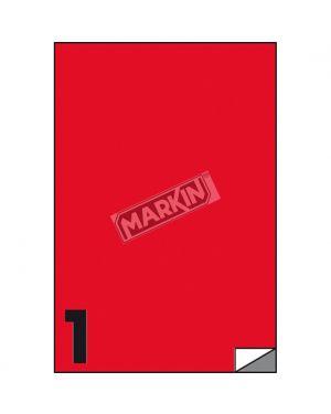 Etichetta adesiva c - 503 rosso fluo 100fg a4 210x297mm (1et - fg) markin X210C503F-RO  X210C503F-RO