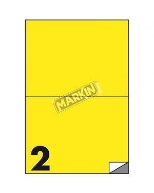 Etichetta adesiva c - 509 giallo fluo 100fg a4 210x148mm (2et - fg) markin X210C509F-GI  X210C509F-GI