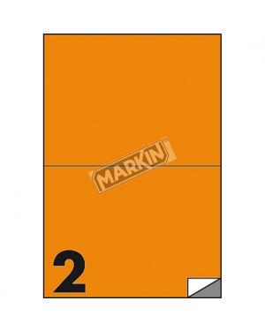 Etichetta adesiva c - 509 arancio fluo 100fg a4 210x148mm (2et - fg) markin X210C509F-AR  X210C509F-AR