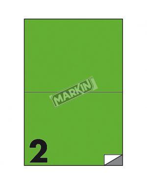 Etichetta adesiva c - 509 verde fluo 100fg a4 210x148mm (2et - fg) markin X210C509F-VE  X210C509F-VE