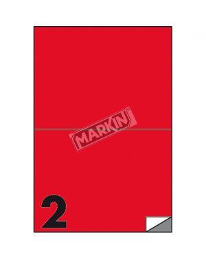 Etichetta adesiva c - 509 rosso fluo 100fg a4 210x148mm (2et - fg) markin X210C509F-RO  X210C509F-RO